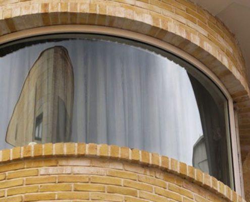 پروفیل پنجره دو جداره خم