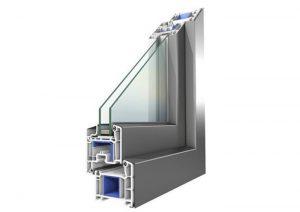 پنجره دو جداره آلومینیومی ساده