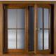 پنجره لمینت طرح چوب